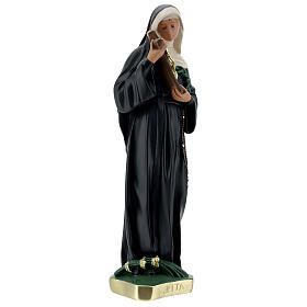 Estatua Santa Rita de Casia 40 cm yeso pintada a mano Barsanti s5