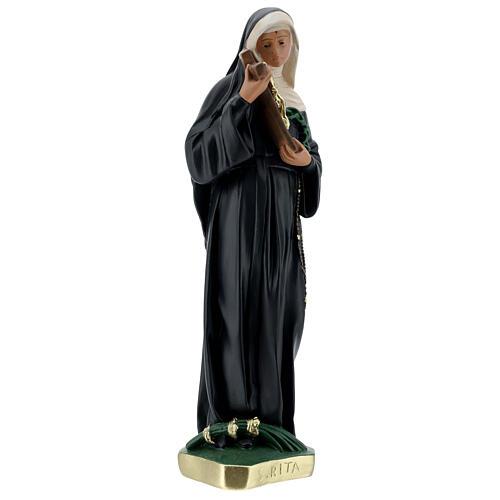 Estatua Santa Rita de Casia 40 cm yeso pintada a mano Barsanti 5