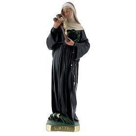 St Rita of Cascia plaster statue, 40 cm hand painted Barsanti s1