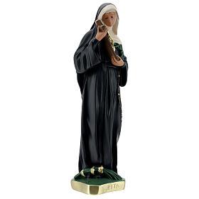 St Rita of Cascia plaster statue, 40 cm hand painted Barsanti s5