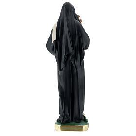 St Rita of Cascia plaster statue, 40 cm hand painted Barsanti s7