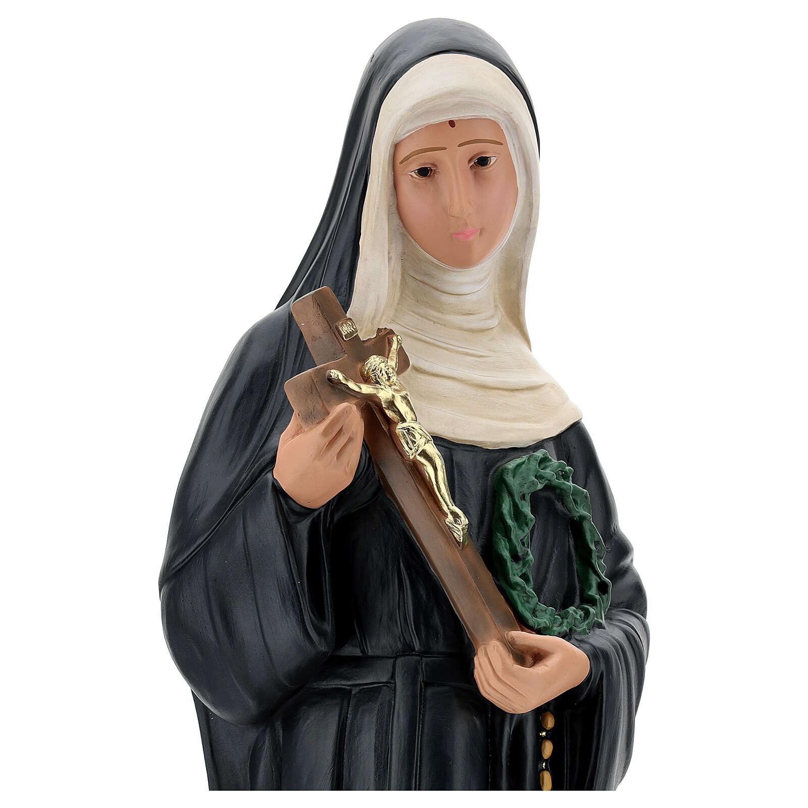 Saint Rita of Cascia plaster statue, 60 cm Arte Barsanti 4