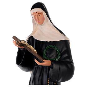 Santa Rita de Cássia gesso 80 cm pintada à mão Arte Barsanti