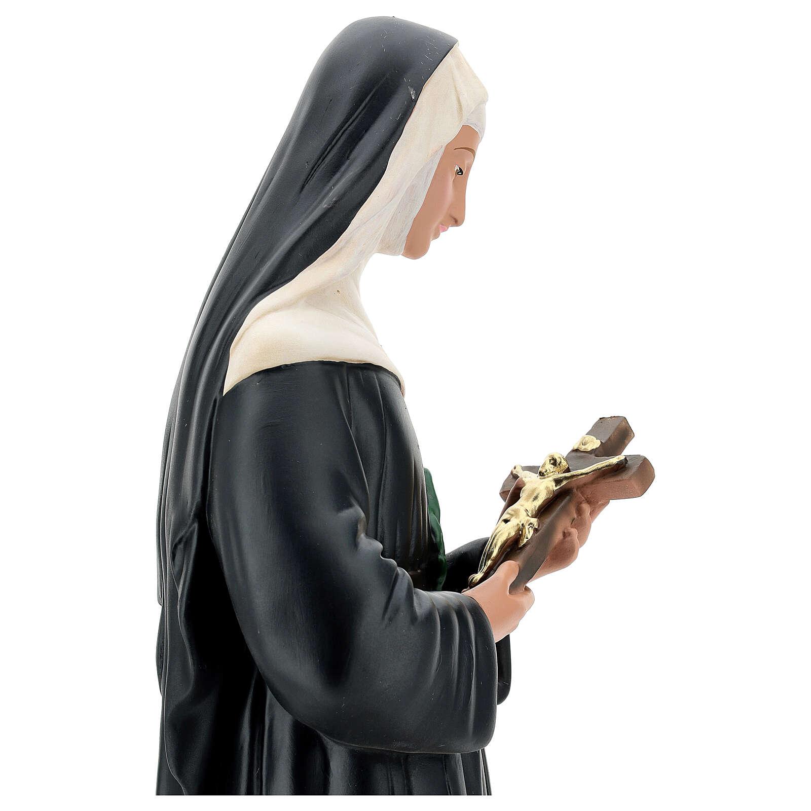 Santa Rita de Casia 60 cm estatua resina pintada Arte Barsanti 4