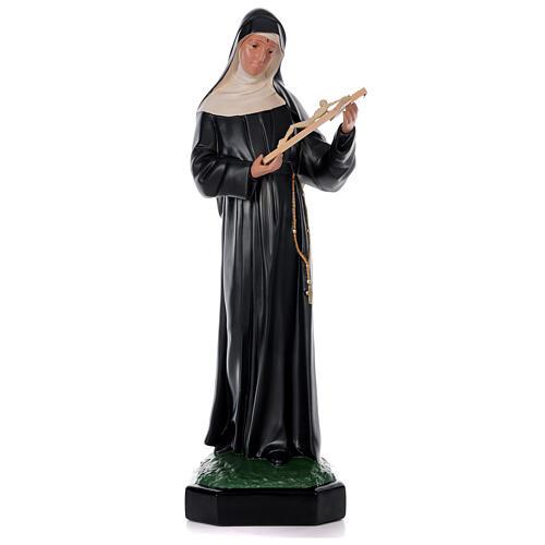 Estatua Santa Rita de Casia 80 cm resina pintada a mano Arte Barsanti