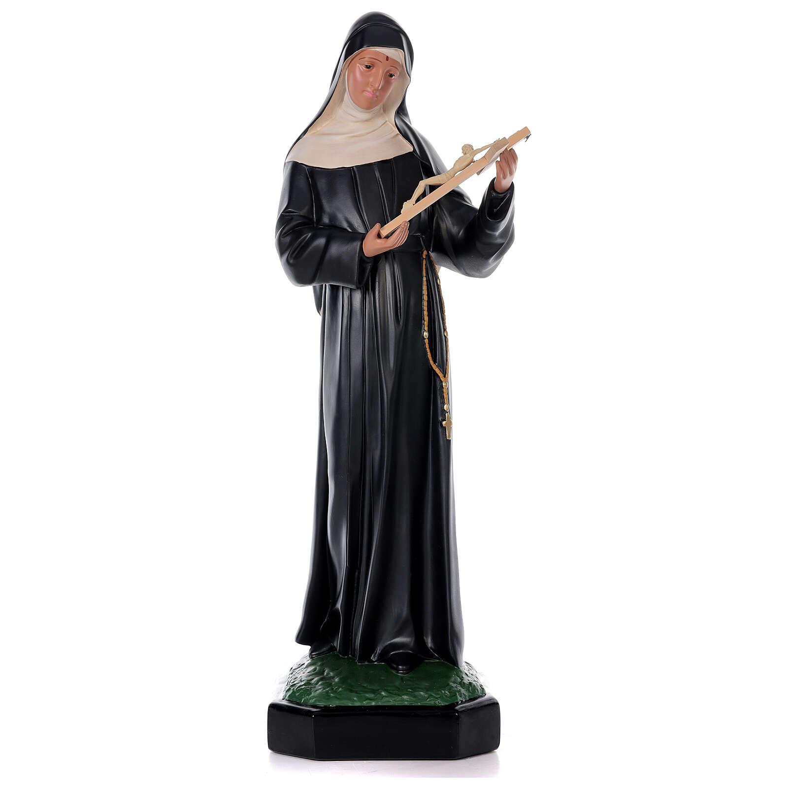 Statua Santa Rita da Cascia 80 cm resina dipinta a mano Arte Barsanti 4