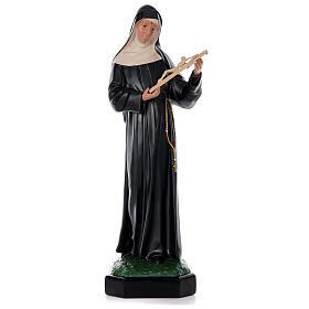 Imagem Santa Rita de Cássia 80 cm resina pintada à mão Arte Barsanti