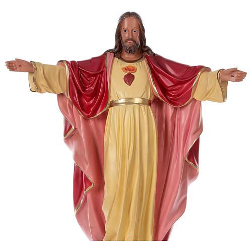Estatua Sagrado Corazón Jesús 80 cm resina pintada a mano Arte Barsanti 2