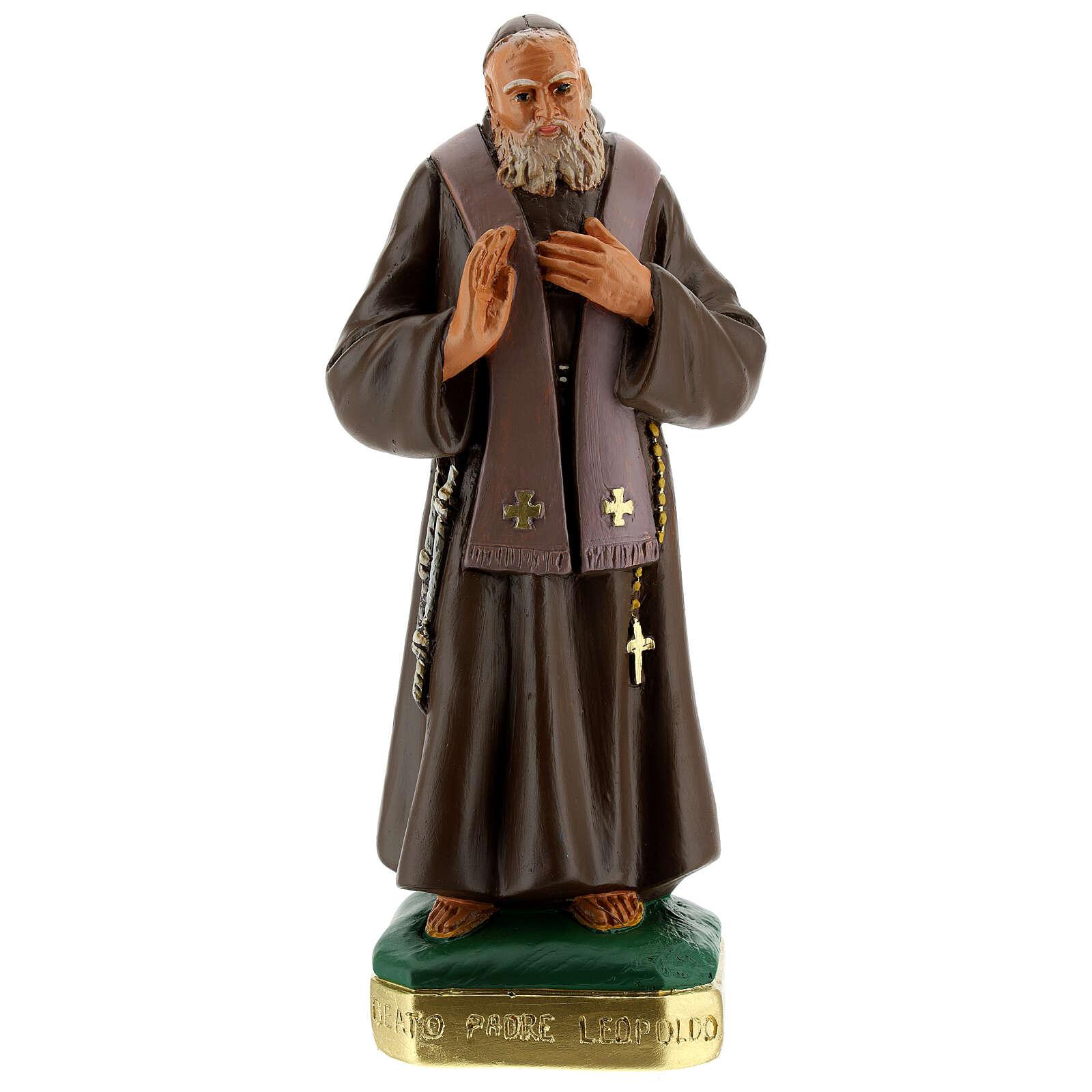 San Leopoldo estatua yeso pintada a mano 30 cm Arte Barsanti 4