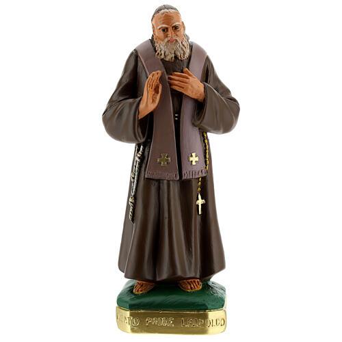 San Leopoldo estatua yeso pintada a mano 30 cm Arte Barsanti 1