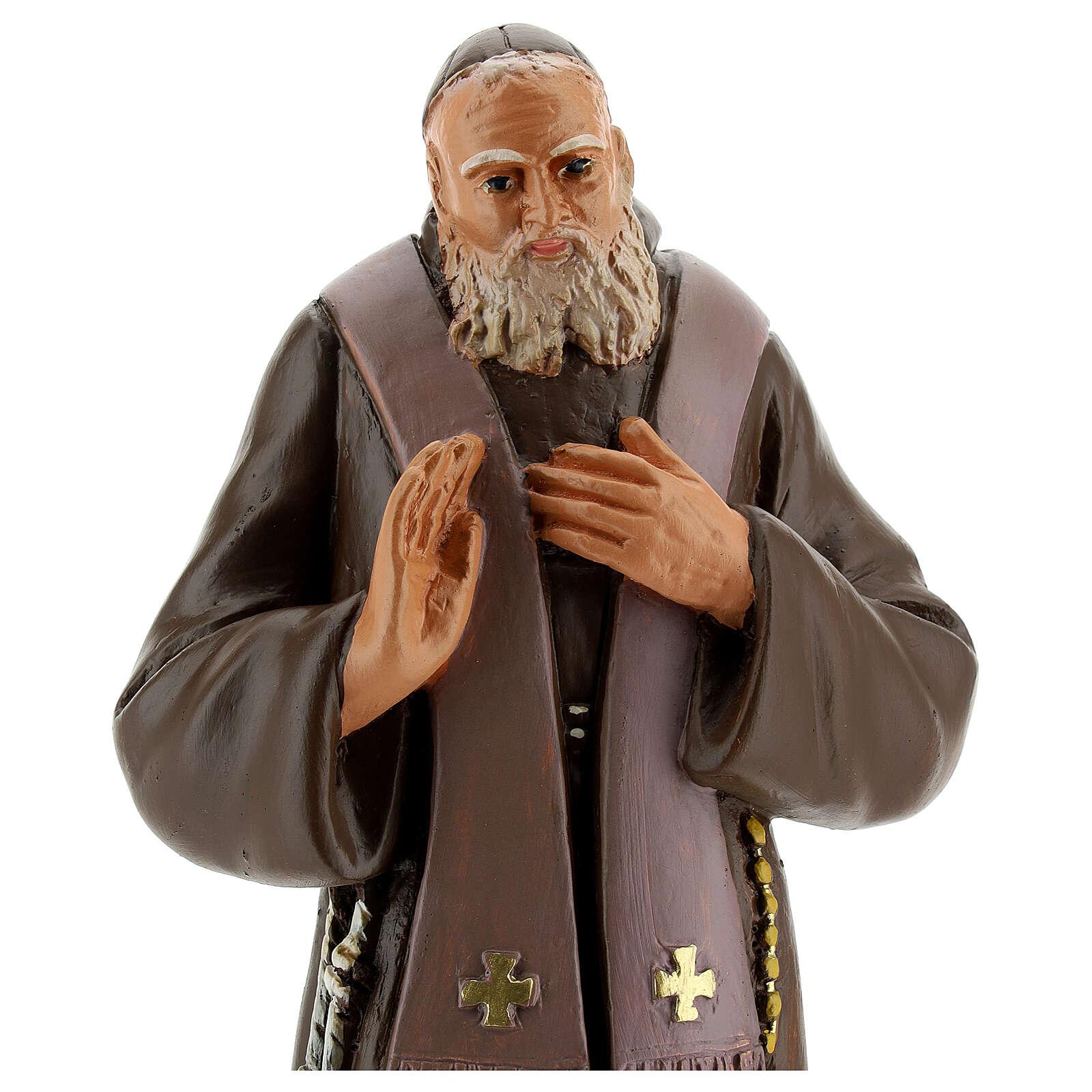 Saint Léopold statue plâtre peint main 30 cm Arte Barsanti 4
