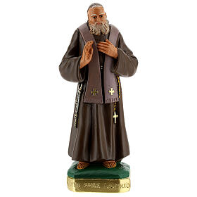 St Leopold statue 12 in hand-painted plaster Arte Barsanti s1