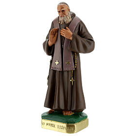St Leopold statue 12 in hand-painted plaster Arte Barsanti s3