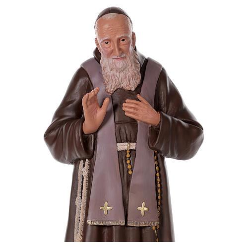 Estatua San Leopoldo 80 cm yeso pintada a mano Arte Barsanti 2