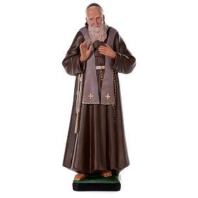 Statua San Leopoldo 80 cm gesso dipinta a mano Arte Barsanti s1