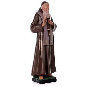 Statua San Leopoldo 80 cm gesso dipinta a mano Arte Barsanti s4