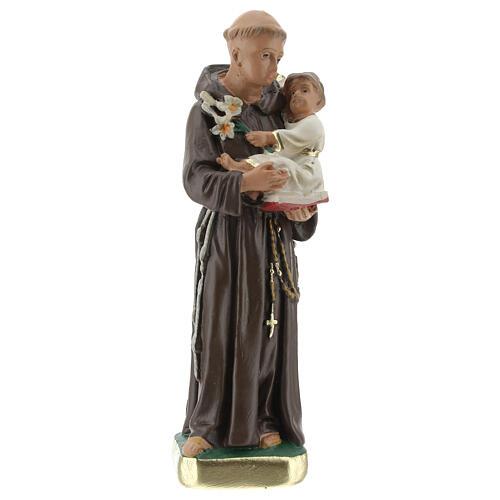 St. Anthony of Padua 15 cm plaster statue Arte Barsanti 1