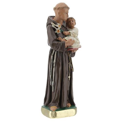 St. Anthony of Padua 15 cm plaster statue Arte Barsanti 3