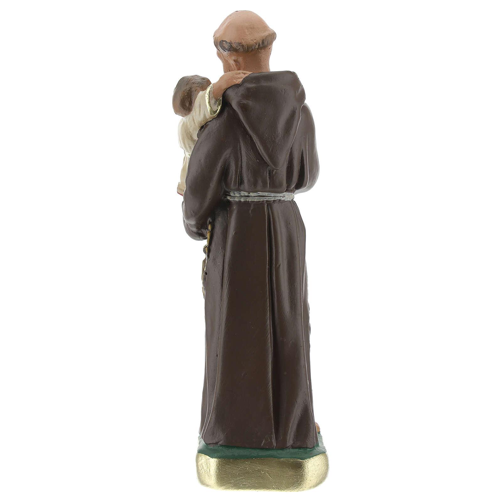 Saint Antoine de Padoue 15 cm statue plâtre Arte Barsanti 4