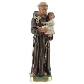 Saint Antoine de Padoue 15 cm statue plâtre Arte Barsanti s1