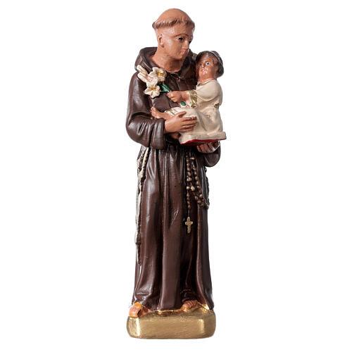 Saint Antoine de Padoue 15 cm statue plâtre Arte Barsanti 1