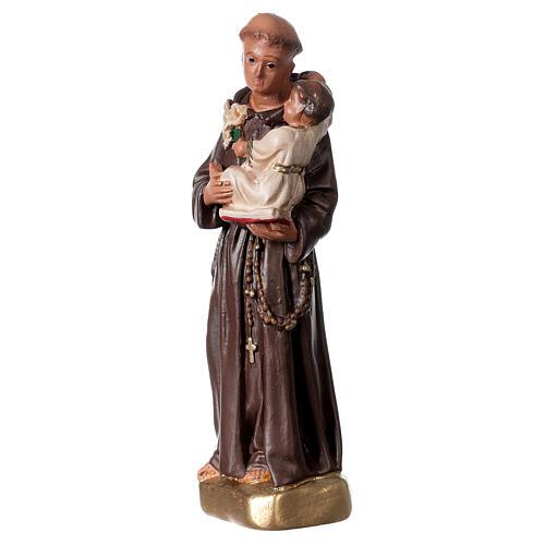 Saint Antoine de Padoue 15 cm statue plâtre Arte Barsanti 2