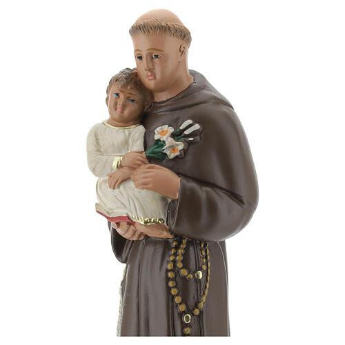 St. Anthony of Padua 20 cm plaster statue Arte Barsanti 2