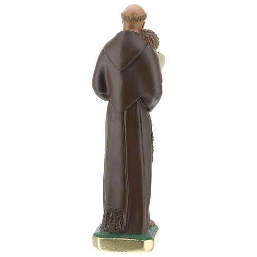 Statue Saint Antoine de Padoue 20 cm plâtre peint Barsanti 5