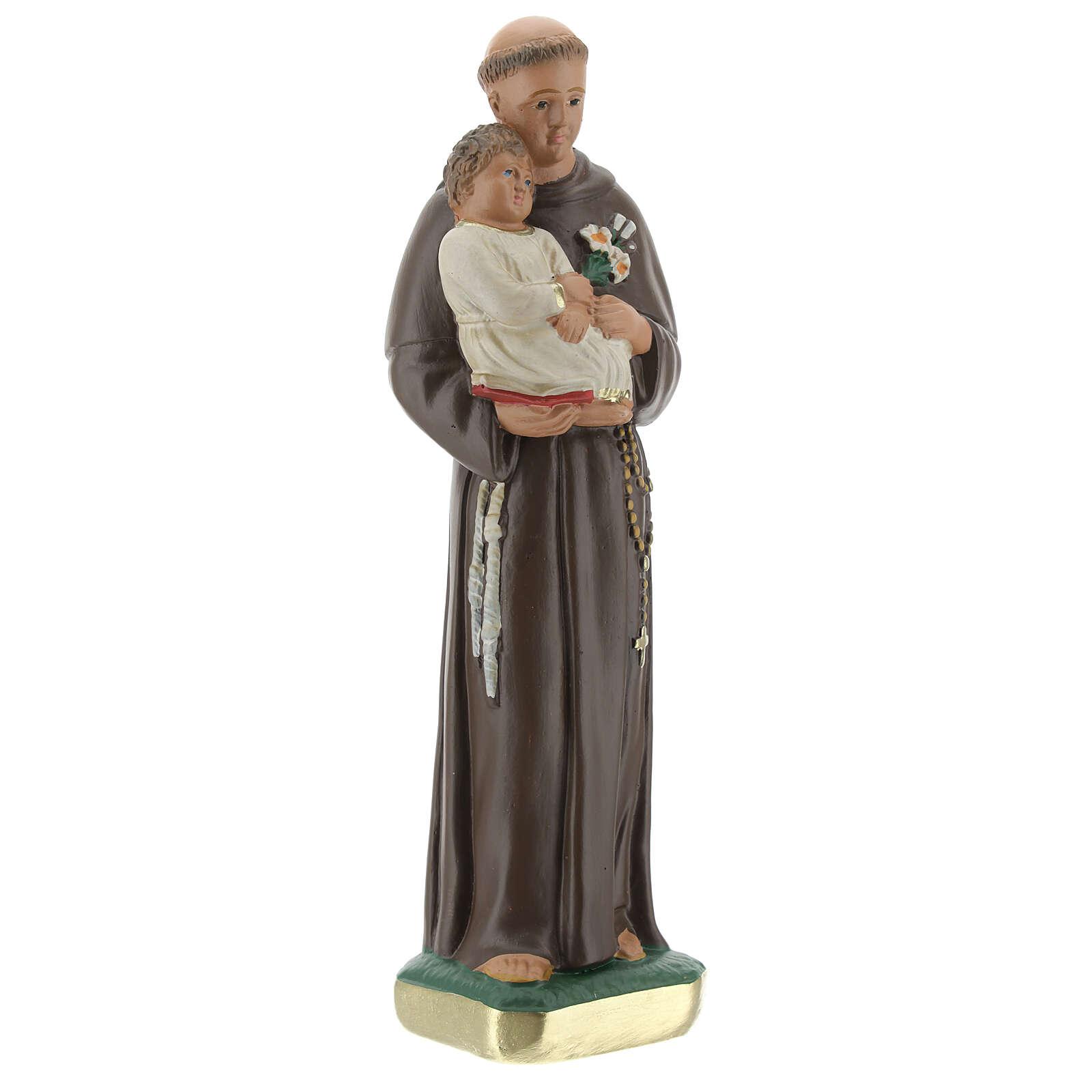 Statua San Antonio da Padova 20 cm gesso dipinto Barsanti 4