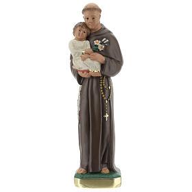 Statua San Antonio da Padova 20 cm gesso dipinto Barsanti s1