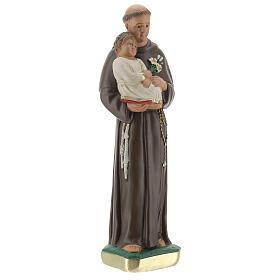 Statua San Antonio da Padova 20 cm gesso dipinto Barsanti s4