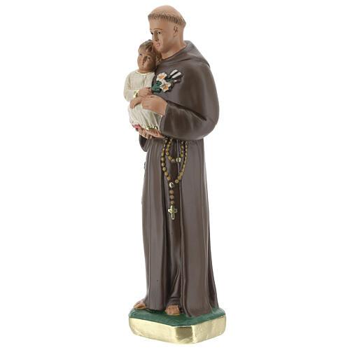 Statua San Antonio da Padova 20 cm gesso dipinto Barsanti 3
