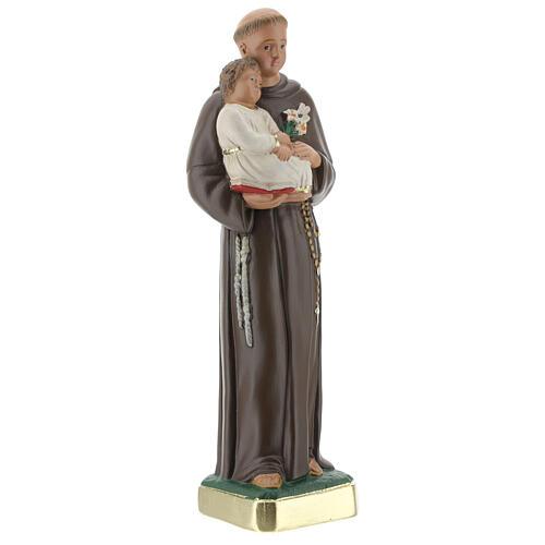 Saint Antoine de Padoue plâtre 25 cm peint à la main Arte Barsanti 4
