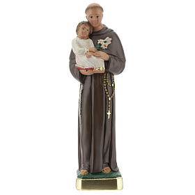 St Anthony statue with Child, 25 cm hand painted plaster Arte Barsanti s1
