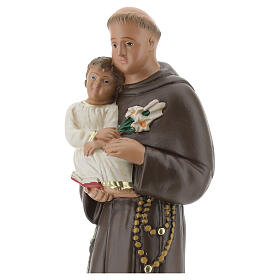 St Anthony statue with Child, 25 cm hand painted plaster Arte Barsanti s2