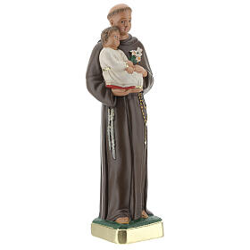 St Anthony statue with Child, 25 cm hand painted plaster Arte Barsanti s4
