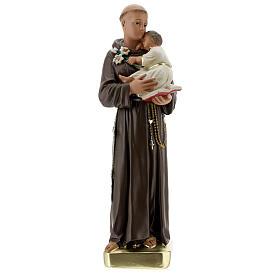 Estatua San Antonio de Padua 30 cm yeso pintado a mano Barsanti