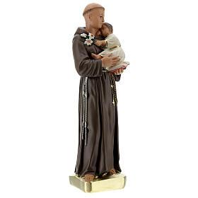 Statue Saint Antoine de Padoue 30 cm plâtre peint main Barsanti s4
