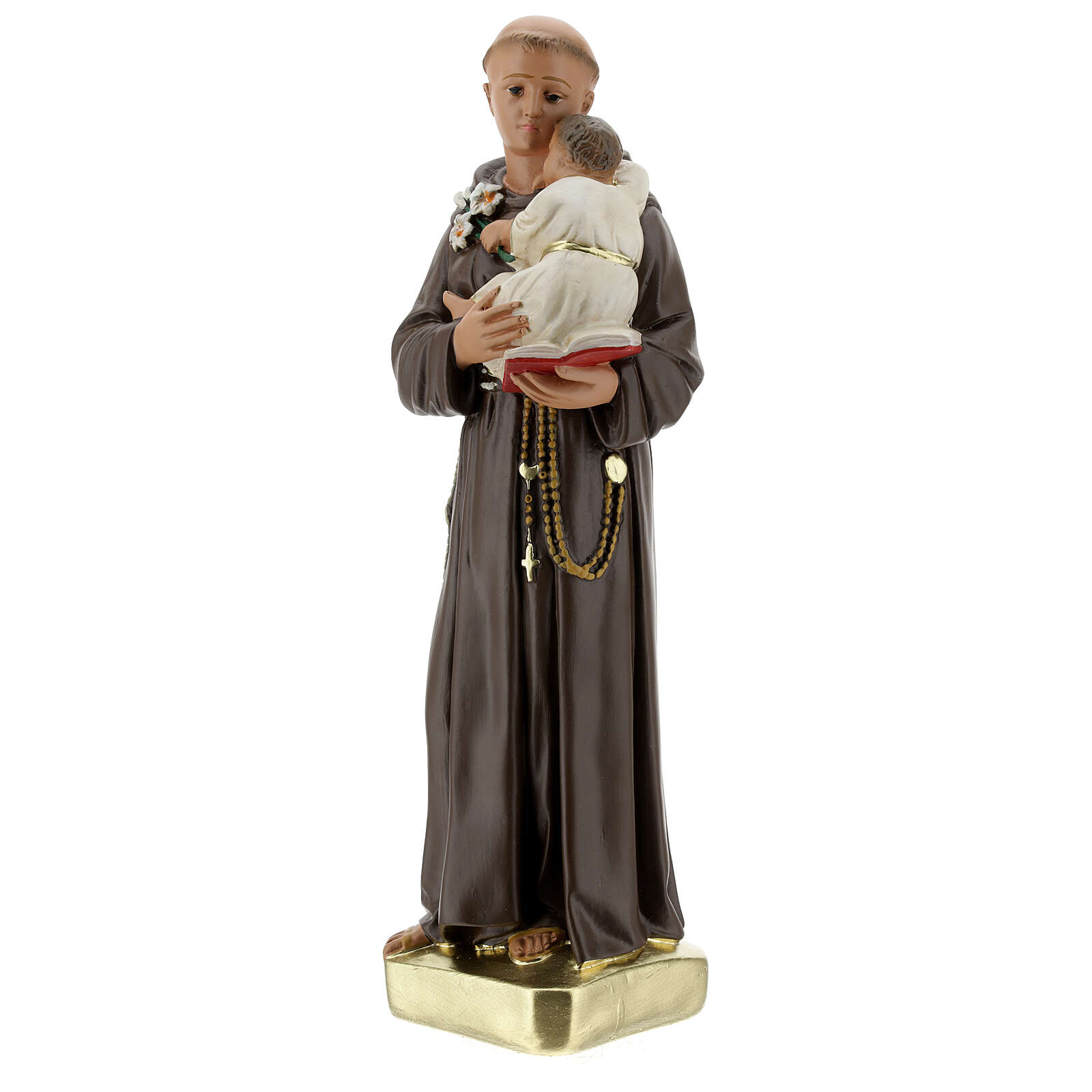 Saint Anthony with Child statue, 30 cm hand painted plaster Barsanti 4