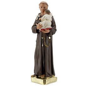 Saint Anthony with Child statue, 30 cm hand painted plaster Barsanti s3