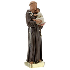 Saint Anthony with Child statue, 30 cm hand painted plaster Barsanti s4