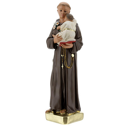 Saint Anthony with Child statue, 30 cm hand painted plaster Barsanti 3