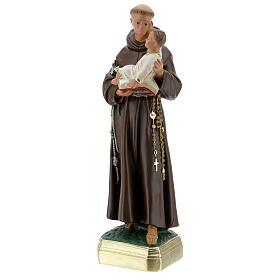 Saint Antoine de Padoue 40 cm statue plâtre peinte main Barsanti s3