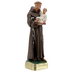 Saint Antoine de Padoue 40 cm statue plâtre peinte main Barsanti s5