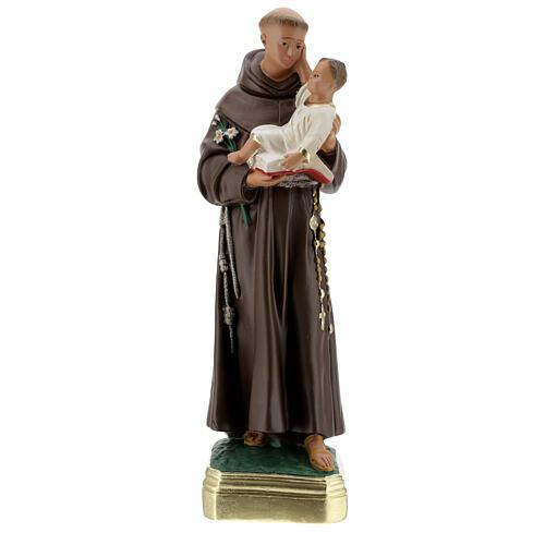 Saint Antoine de Padoue 40 cm statue plâtre peinte main Barsanti 1