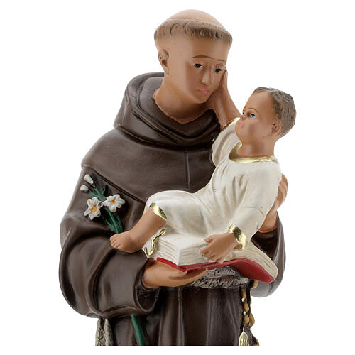 St Anthony of Padua statue with Child, 40 cm hand painted plaster Barsanti 2