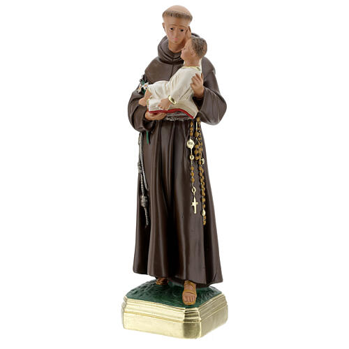 St Anthony of Padua statue with Child, 40 cm hand painted plaster Barsanti 3