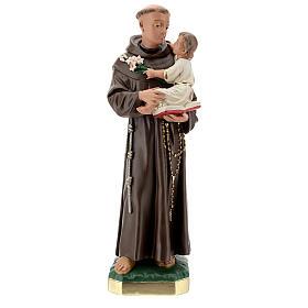 Estatua 50 cm San Antonio de Padua yeso pintado a mano Barsanti