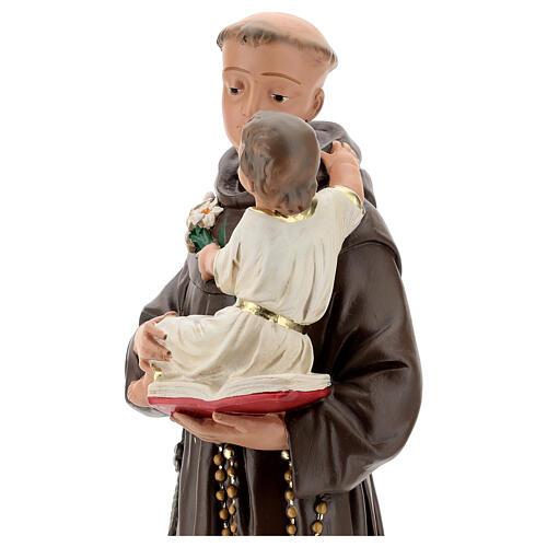Estatua 50 cm San Antonio de Padua yeso pintado a mano Barsanti 4