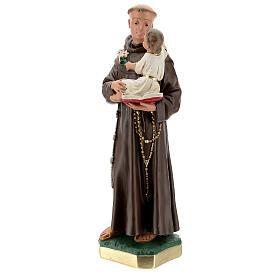 Statua 50 cm San Antonio da Padova gesso dipinto a mano Barsanti s3